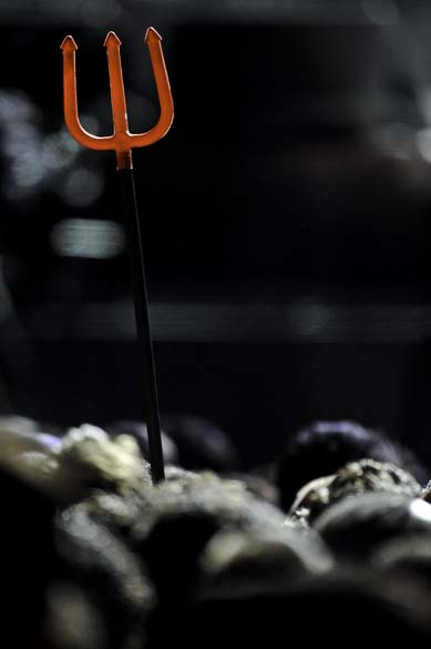 Público durante o show da banda Coheed and Cambria no palco Mundo, no terceiro dia do Rock in Rio, em 25/09/11