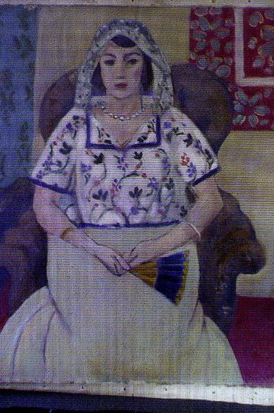 Reprodução da obra Mulher Sentada, do pintor Henri Matisse