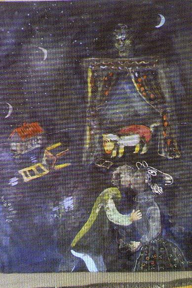 A polícia alemã recuperou 1 400 quadros entre eles obras de Picasso, Matisse, Chagall e Nolde da casa de um homem de 80 anos, em Munique. Reprodução da obra do pintor Marc Chagall