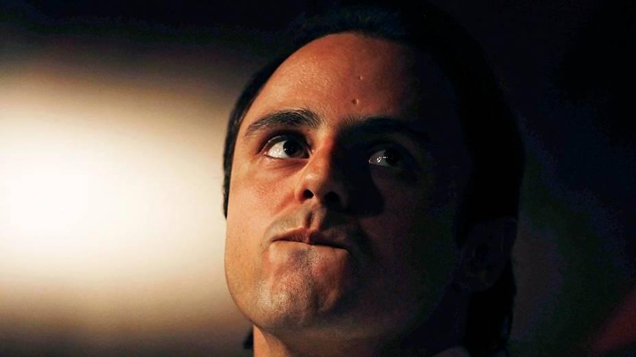 Felipe Massa durante entrevista: mais um companheiro de equipe no kart, o espanhol Alonso
