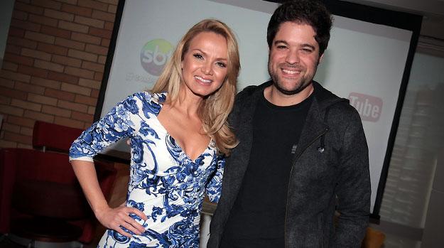 Eliana e o diretor de seu programa, Ariel Jacobowitz
