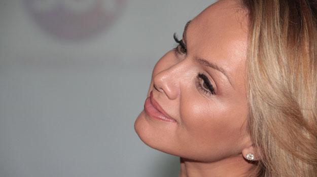 A apresentadora Eliana durante coletiva de imprensa em São Paulo