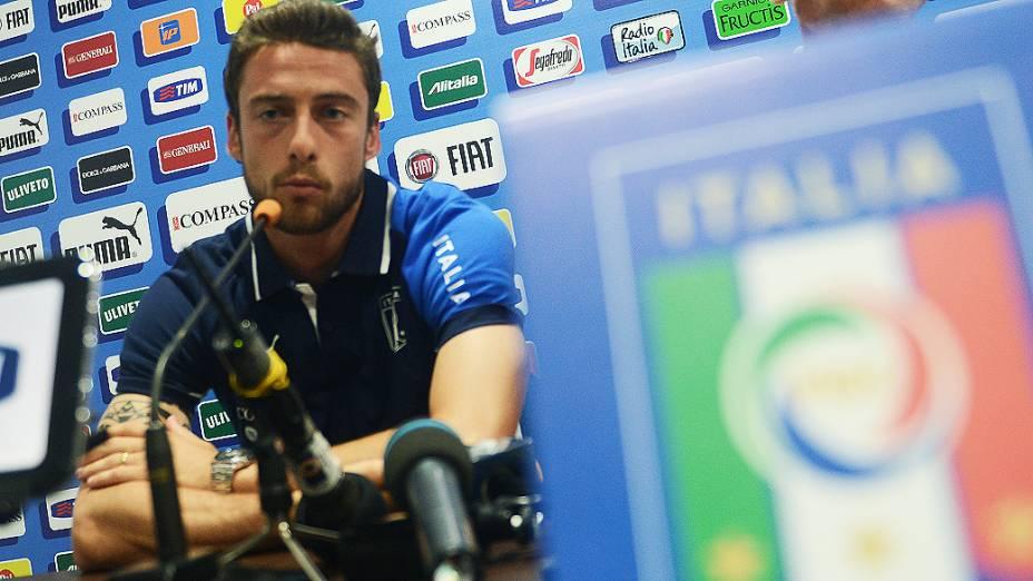 Marchisio durante coletiva de imprensa nesta terça-feira (25), em Fortaleza