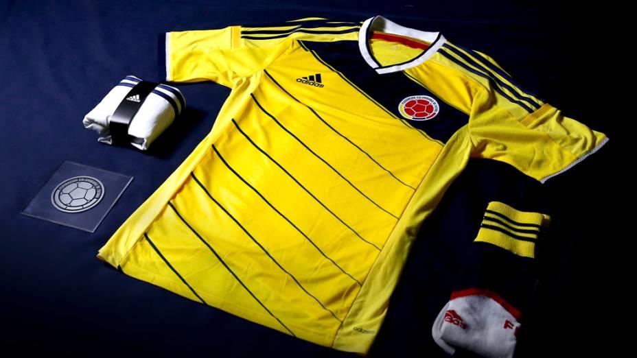 Nova camisa da Colômbia para a Copa do Mundo 2014