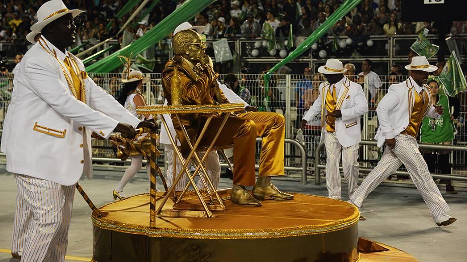 Desfile da Mancha Verde, em São Paulo. A escola apresentou o enredo Mário Lago - O homem do século XX