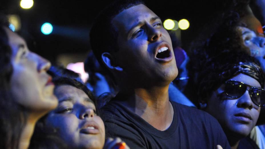 Público durante o Concerto Sinfônico Legião Urbana e Orquestra Sinfônica Brasileira no palco Mundo, no quarto dia do Rock in Rio, em 29/09/2011