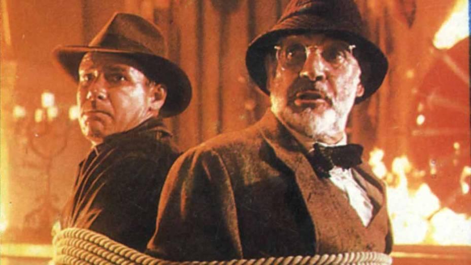 Ao lado de Harrison Ford em Indiana Jones e a Última Cruzada, de 1989