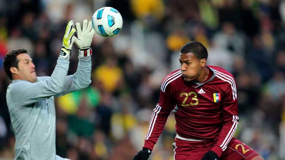 Júlio César durante partida entre Brasil e Venezuela válida pela primeira fase da Copa América, disputada na Argentina