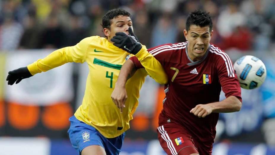 Thiago Silva durante partida entre Brasil e Venezuela válida pela primeira fase da Copa América, disputada na Argentina