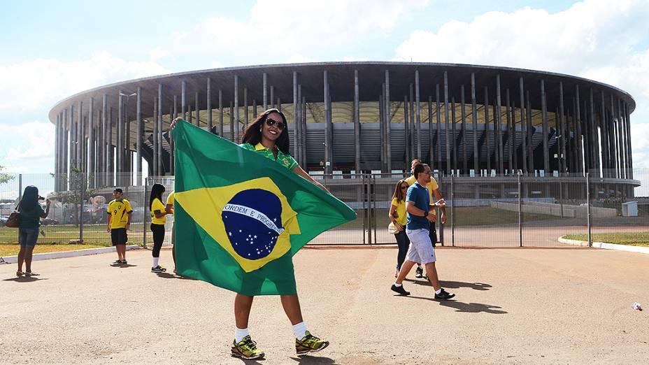 Torcida chega para fazer festa na Copa das Confederações, em Brasília