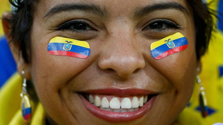 Torcedora do Equador durante a Copa do Mundo