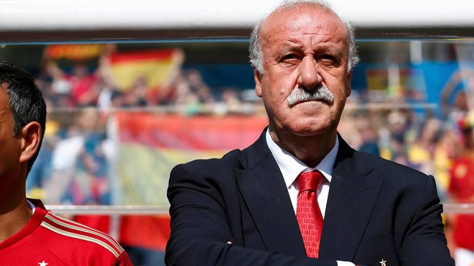 Vicente Del Bosque, técnico da Espanha durante partida em Curitiba