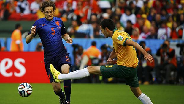 Partida entre Austrália e Holanda, em Porto Alegre