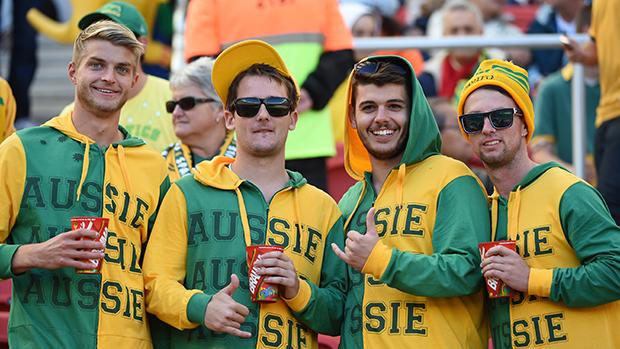 Australianos na partida contra a Holanda
