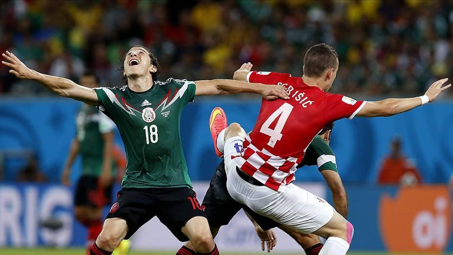 Partida entre Croácia e México durante a Copa do Mundo