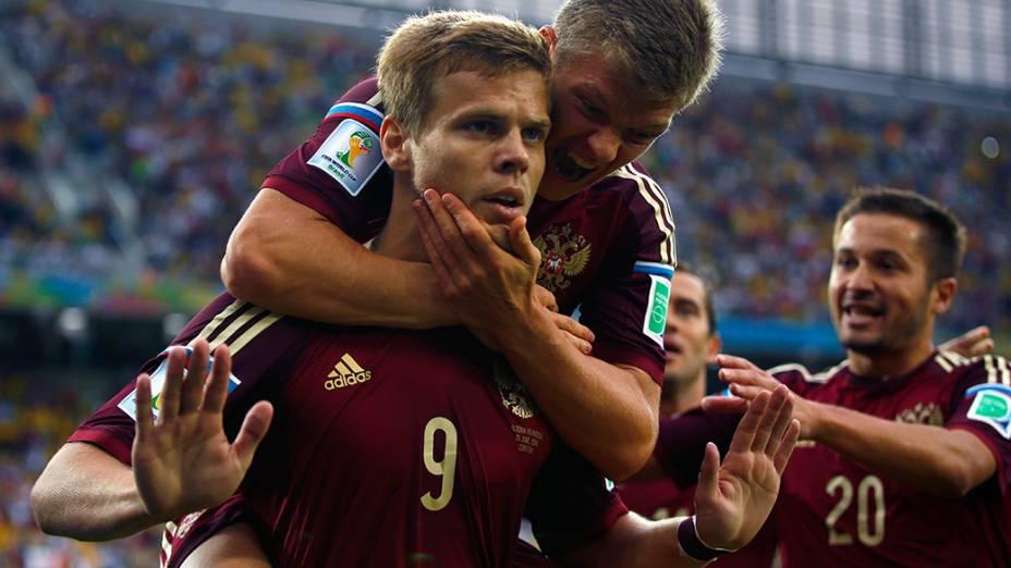 Alexander Kokorin marca o primeiro gol da Rússia