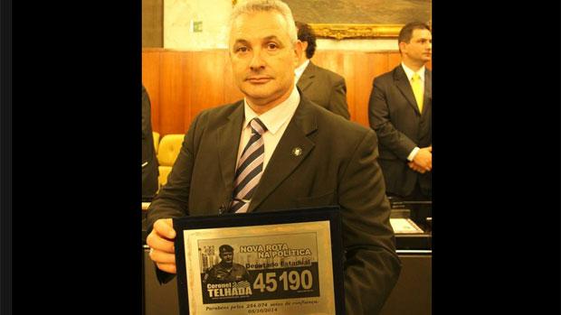 Coronel Telhada em cerimônia na Assembleia Legislativa de São Paulo