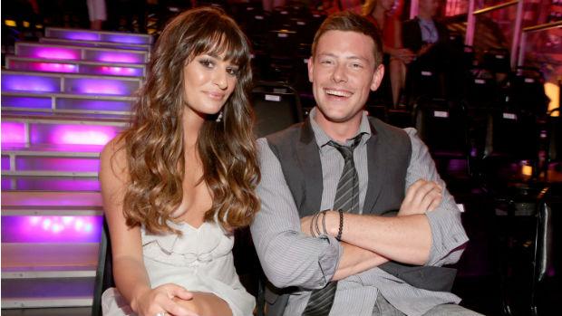 Cory Monteith e Lea Michele no Do Something Awards em agosto de 2012