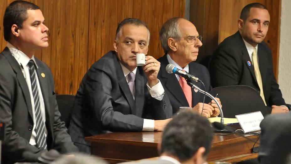 Carlinhos Cachoeira, comparece à Comissão Parlamentar de Inquérito (CPI) mista do Congresso, em Brasília