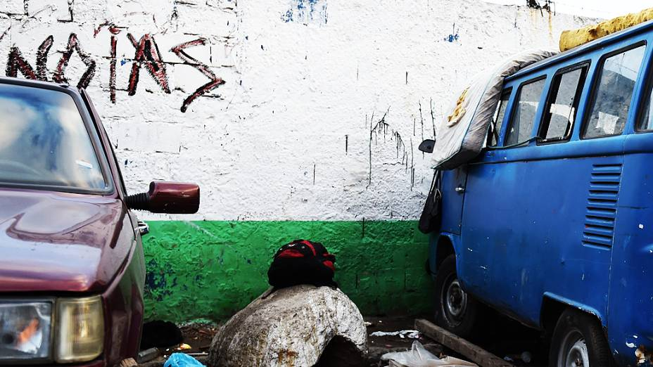 Minicracolândia na entrada da antiga Pedreira Itaberaba, Zona Norte de São Paulo
