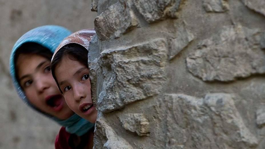 Crianças afegãs em Cabul, Afeganistão