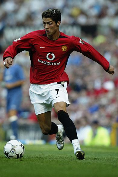 Atacante português Cristiano Ronaldo atuando pelo Manchester United