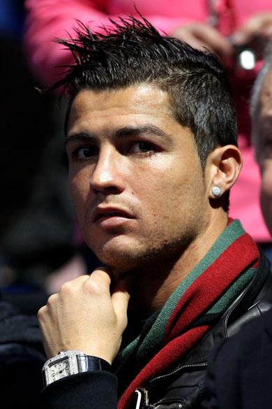 Cristiano Ronaldo assiste às finais de torneio de tênis em Londres, Inglaterra