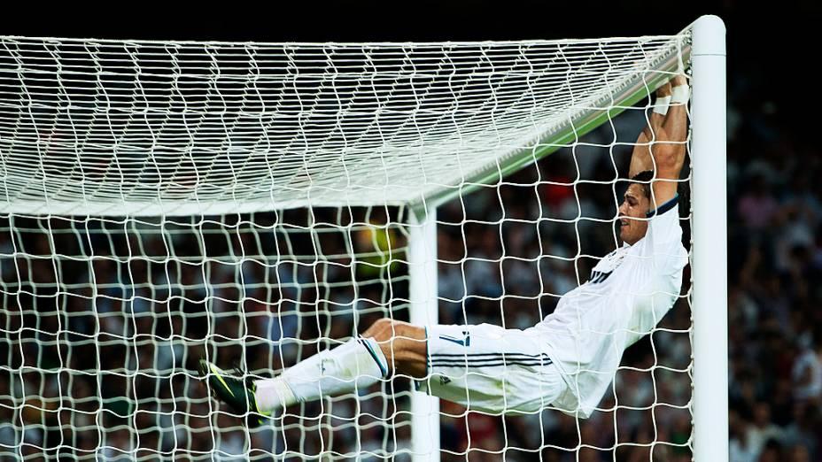 Cristiano Ronaldo, durante a partida contra o Barcelona