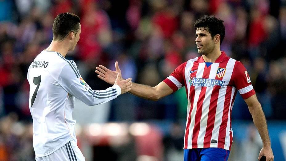Artilheiros do campeonato, Cristiano Ronaldo e Diego Costa comandaram suas equipes na campanha pelo título