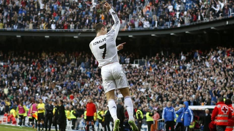 Cristiano Ronaldo marcou um dos gols da vitória do Real Madrid