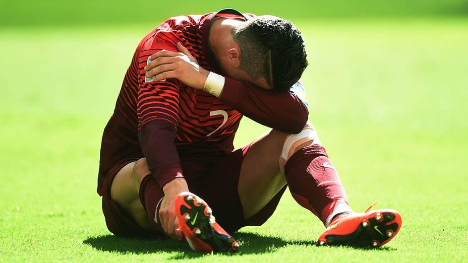 O português Cristiano Ronaldo durante o jogo contra Gana no Mané Garrincha, em Brasília