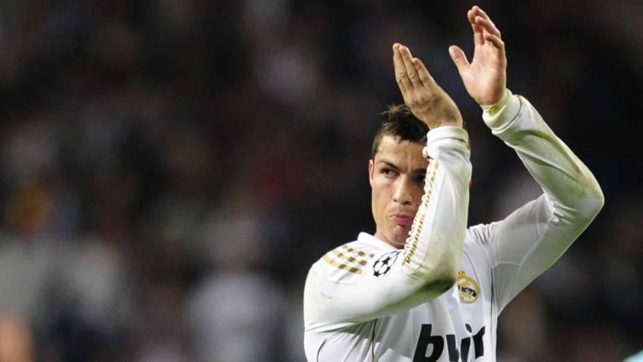Cristiano Ronaldo, do Real Madrid, durante jogo contra o CSKA