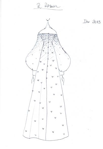Croqui do estilista R. Rosner