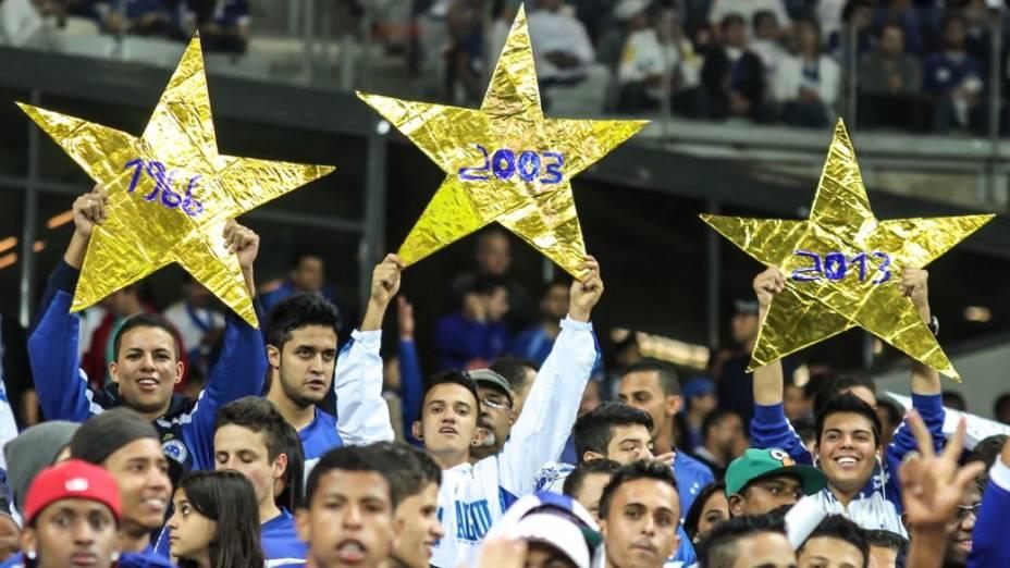 Torcida do Cruzeiro na partida contra o São Paulo, no Mineirão
