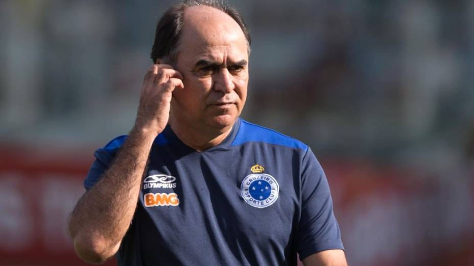 O técnico do Cruzeiro, Marcelo Oliveira