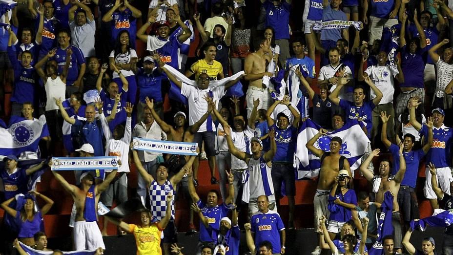 Torcida cruzeirense celebra a conquista do Brasileirono Barradão