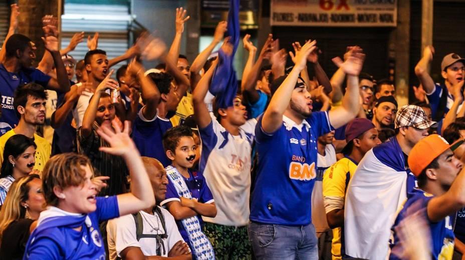 Torcida do Cruzeiro faz a festa em Belo Horizonte