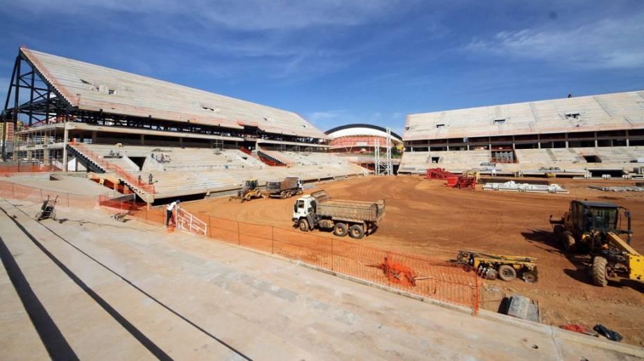 A construção da Arena Pantanal, em Cuiabá, em abril de 2013