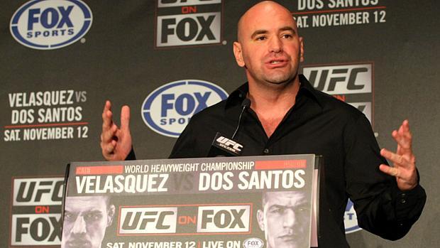 Dana White antes da primeira luta entre Cigano e Velasquez