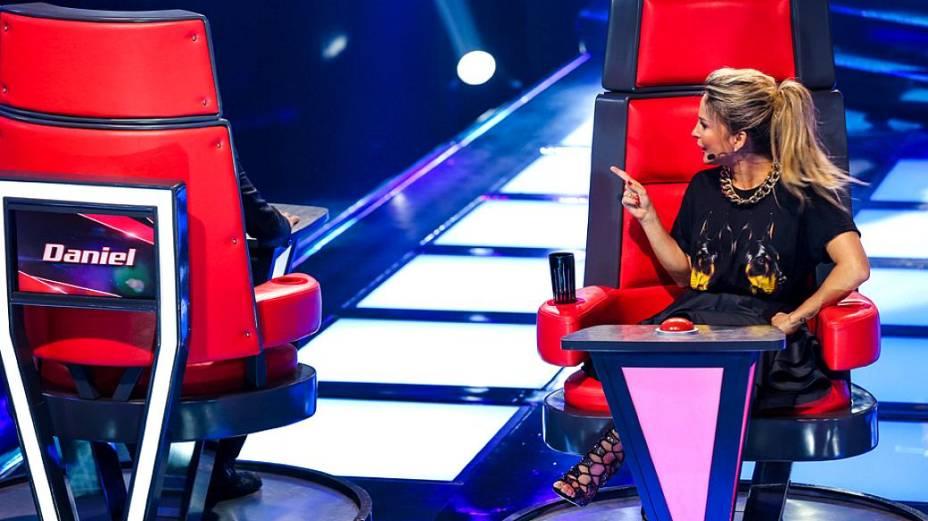 Daniel e Claudia Leitte na quarta rodada de audições às cegas do The Voice Brasil