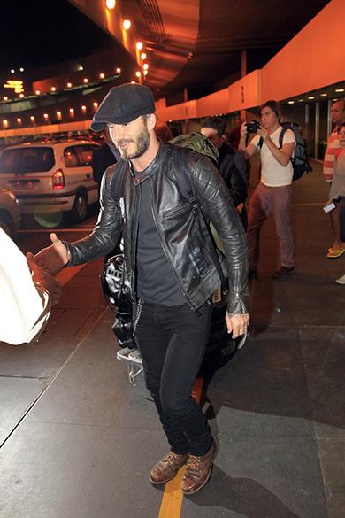 David Beckham chega ao Rio para desfile das campeãs