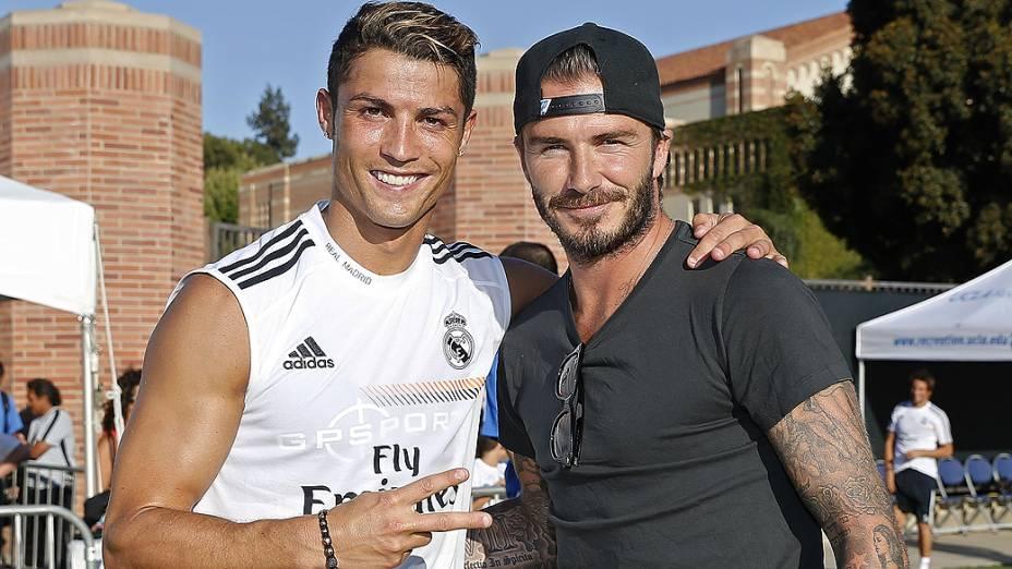 David Beckham e Cristiano Ronaldo