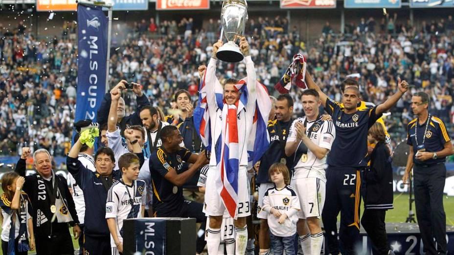 David Beckham se despediu do Los Angeles Galaxy sendo bicampeão da MLS Cup