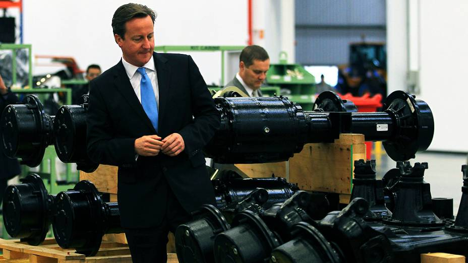 O primeiro-ministro britânico, David Cameron, participa nesta quinta-feira de inauguração de fábrica em Sorocaba, no interior de São Paulo