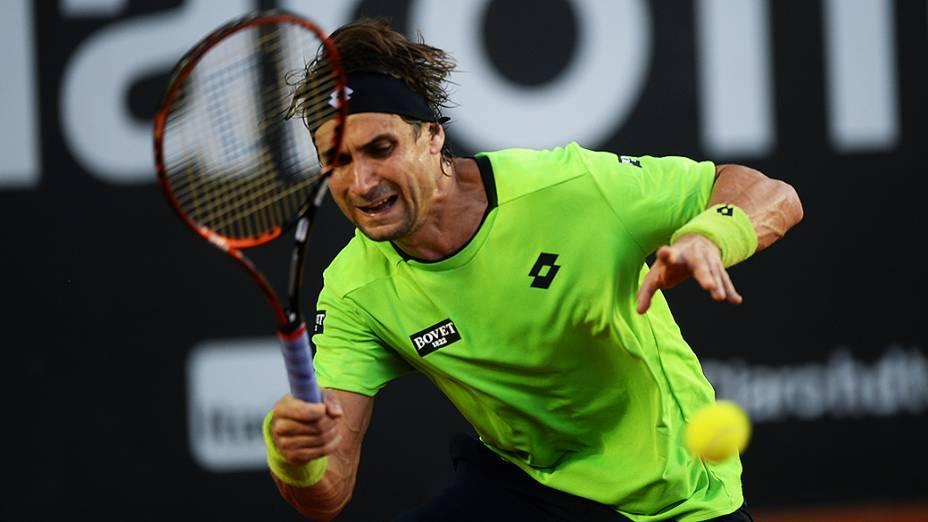 O tenista David Ferrer no Rio Open 2014