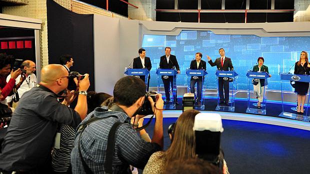 Debate no Rio: primeiro encontro dos candidatos na TV foi mediado pela Band