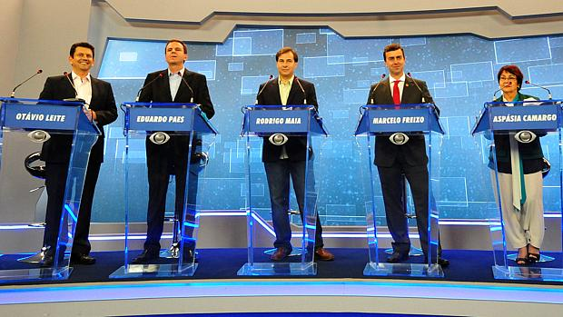 Debate no Rio: candidatos se preocuparam em não manchar a própria imagem