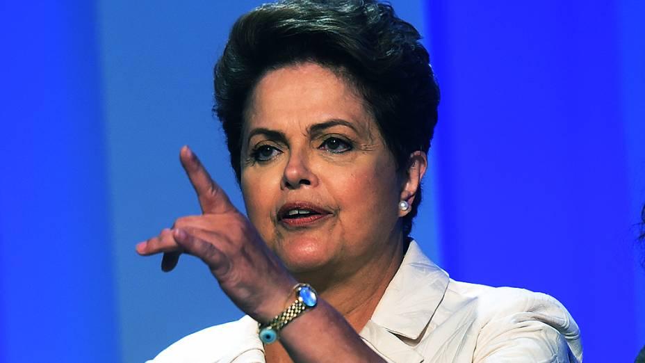 A candidata à Presidência da República, Dilma Rousseff (PT), antes do debate promovido pela Globo, no Rio