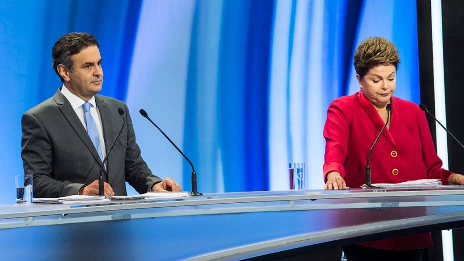 A TV Record realizou neste domingo (28), na sede da emissora em São Paulo (SP), o debate com os candidatos à Presidência da República