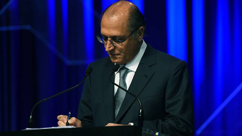 O candidato à reeleição Geraldo Alckmin, do PSDB